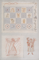 Artist Evelyn Dunbar: Study I for designs for an embroidered quilt [HMO 689]