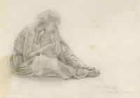 Artist Winifred Knights: Study of a Seated Woman for The Santissima Trinita