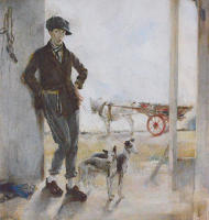 Artist Madeline Green: Coster with Dogs, circa 1925
