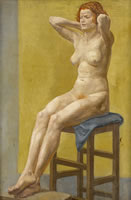Artist Margaret Maitland Howard: Seated Nude with Red Hair